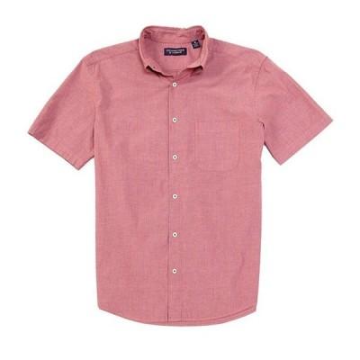 ラウンドトゥリーアンドヨーク メンズ シャツ トップス Short-Sleeve Striped Seersucker Tailored to Wear Untucked Sportshirt