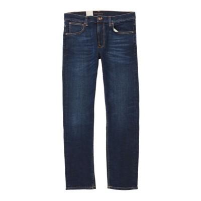 ヌーディージーンズ nudie jeans co ジップフライ ジーンズ LEAN DEAN DARK DEEP WORN レングス32 ブルー メンズ lean-dean-113032