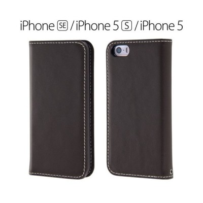 ☆ iPhoneSE/5S/5 専用 手帳型ケース 本革 ダークブラウン RT-P11RLC1/DK