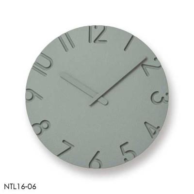レムノス Lemnos 掛時計 直径240mm カーヴド カラード CARVED COLORED グレー NTL16-06 GY *受注後に納期をお知らせ致します。