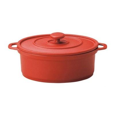 MIN ミニココ オーバル(大)レッド(樹脂製)(M11-293)キッチン、台所用品