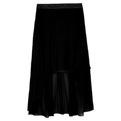 NO SECRETS ひざ丈スカート ブラック 40 ポリエステル 100% ひざ丈スカート
