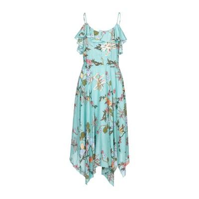 ANGELA MELE MILANO 7分丈ワンピース・ドレス ターコイズブルー S コットン 100% 7分丈ワンピース・ドレス