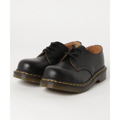 シューズ ドレスシューズ Dr.Martens 1925 3EYE STEEL TOE (BLACK FINE HAIRCELL)