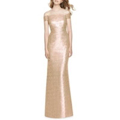 ドレッシーコレクション ワンピース トップス レディース Sequin Off the Shoulder Gown Rose Gold