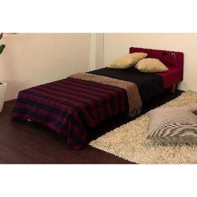 パネル付スプリングマットレスベッド/セミシングルサイズ/カラー全3色