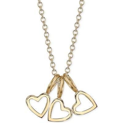 """サラクロエ ネックレス・チョーカー・ペンダントトップ アクセサリー レディース Triple Heart Charms Pendant Necklace, 16"""" + 2"""" extender Gold over Silver"""