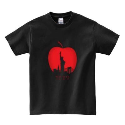 【ニューヨーク・リンゴ】メンズ 半袖 Tシャツ