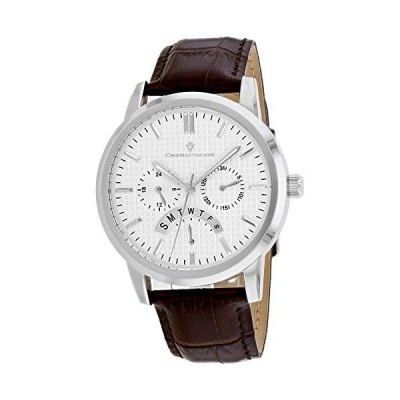 Christian Van Sant Men's Stately Black Dial Watch - CV0323-BR 並行輸入品