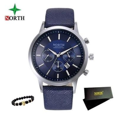 腕時計 メンズ NORTH 防水 父の日&誕生日&クリスマスプレゼント メンズビジネスウォッチ クォーツ