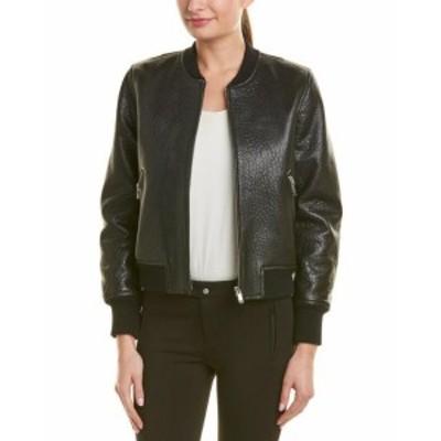 ファッション 衣類 Isabel Marant Etoile Leather Jacket 38 Black