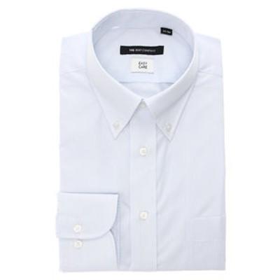 【再生繊維】ボタンダウンカラードレスシャツ ストライプ 〔EC・BASIC〕