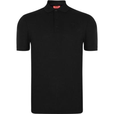 ヒューゴ ボス Hugo メンズ ポロシャツ 半袖 トップス Donos Short Sleeve Polo Shirt Black