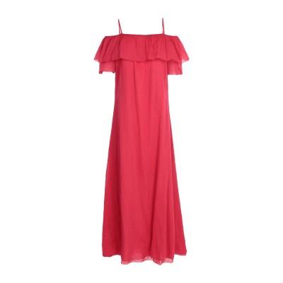 EUROPEAN CULTURE ロングワンピース&ドレス レッド L 100% コットン ロングワンピース&ドレス