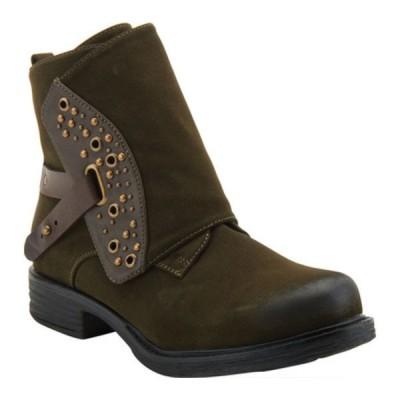 パトリシア レディース ブーツ&レインブーツ シューズ Billijoe Ankle Bootie Dark Green Leather
