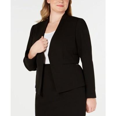 カルバンクライン ジャケット&ブルゾン アウター レディース Plus Size Open-Front Soft Crepe Blazer Black