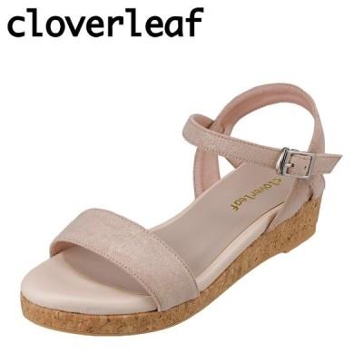 クローバーリーフ cloverleaf CL-1247 レディース | サンダル | ウェッジソール | フワフワ インソール | ベージュ
