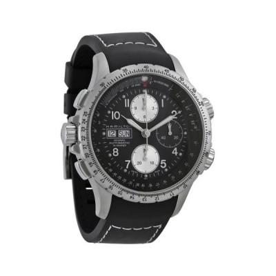 腕時計 ハミルトン Hamilton X-Wind ブラック ダイヤル クロノグラフ メンズ 腕時計 H77616333