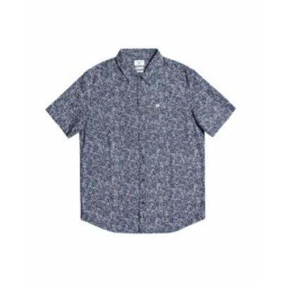 クイックシルバー メンズ シャツ トップス Men's Sketchy Daze Short Sleeve Shirt Navy Blazer Sketchy Daze