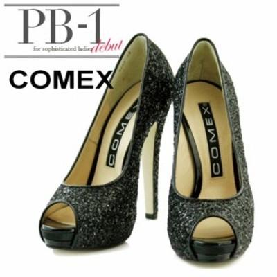 COMEX シューズ系(靴) コメックス キャバドレス ナイトドレス ブラック 黒 22.0 22.5 23.0 23.5 24.0 24.5 7243 クラブ スナック キャ