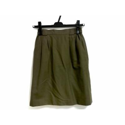 アダバット Adabat スカート サイズ0 XS レディース カーキ 刺繍【中古】
