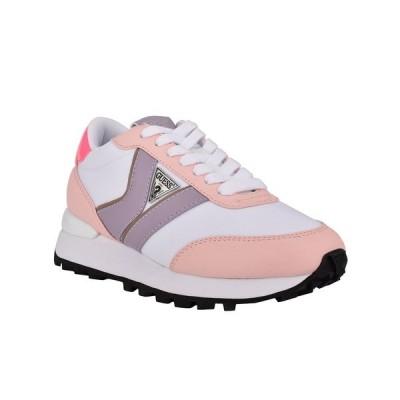 ゲス スニーカー シューズ レディース Women's Samsin Sneakers Pink, Multi Textile, Faux Leather