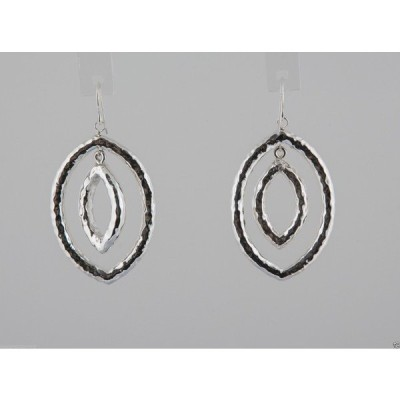 アクセサリー メットインジーンズ Simon Sebbag Sterling Silver Hammer Cutout Double Leaf Earrings E2612