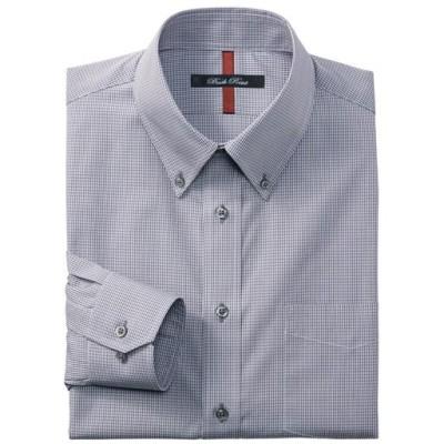 抗菌防臭機能付き 4デザインから選べる形態安定ボタンダウンYシャツ(ゆったりシルエット)/チェック/39(裄丈78)