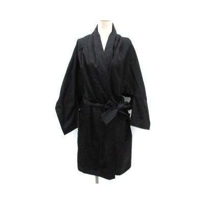 【中古】リミフゥ LIMI feu S コート コットン ベルト 黒 ブラック /EK  レディース 【ベクトル 古着】