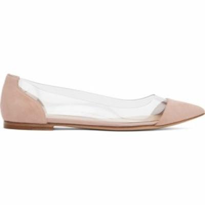 ジャンヴィト ロッシ Gianvito Rossi レディース スリッポン・フラット シューズ・靴 Pink Suede Plexi Ballerina Flats Praline pink
