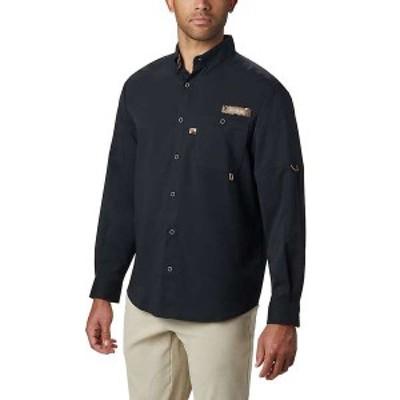 コロンビア メンズ シャツ トップス Columbia Men's Bucktail LS Woven Shirt Black / Rt Edge