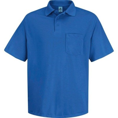 レッドキャップ シャツ トップス メンズ Red Kap Men's Polyester Pocket Work Polo Shirt Royal Blue
