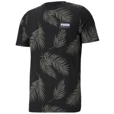 プーマ Tシャツ トップス メンズ Men's Summer Court Frond Graphic T-Shirt Black