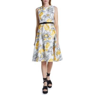アーデム レディース ワンピース トップス Fitted Bodice Dress