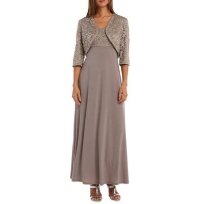 アールアンドエムリチャーズ レディース ワンピース トップス Women's Sequin Lace Jacket Dress