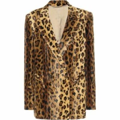 ブレイズ ミラノ Blaze Milano レディース スーツ・ジャケット アウター everyday leopard-print velvet blazer Leopard