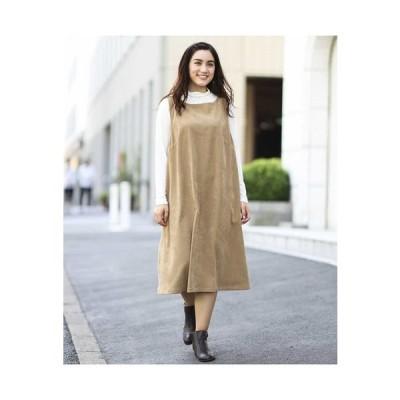 eur3 / 【大きいサイズ/洗える】スウェードタッチジャンパースカート