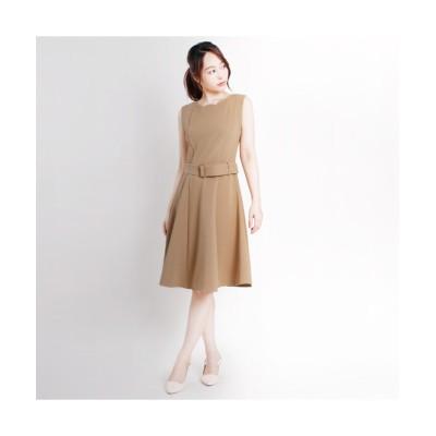 MARTHA(マーサ) スカラップネックリップルジャージーワンピース (ワンピース)Dress
