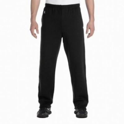 Russell ラッセル ファッション パンツ Russell NEW Solid Black Mens Size XL Pull-On Drawstring Fleece Pants