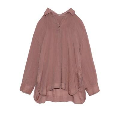 【ミラオーウェン】 シアーセットアップシャツジャケット レディース ピンク 1 Mila Owen