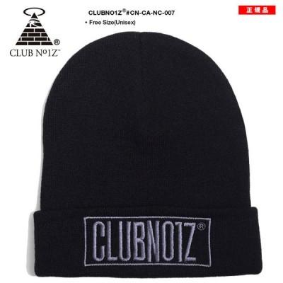クラブノイズ CLUB NO1Z 帽子 キャップ ニットキャップ ビーニー ニット帽 CAP Fサイズ BOXロゴ 刺繍 シンプル ワンポイント かっこいい おしゃれ ギフト