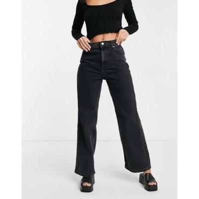 エイソス レディース デニムパンツ ボトムス ASOS DESIGN high rise 'relaxed' dad jeans in washed black
