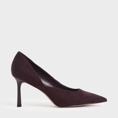 スティレットヒールパンプス / Stiletto Heel Pumps (Dark Brown)