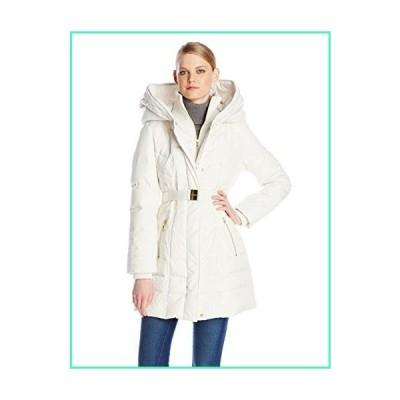 Kensie Women's Long Down Coat with Hood, Winter White, Medium並行輸入品