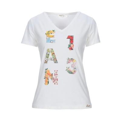 EAN 13 T シャツ ホワイト 40 コットン 94% / ポリウレタン 6% / スワロフスキー T シャツ