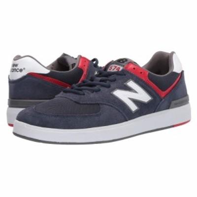 ニューバランス New Balance Numeric メンズ スニーカー シューズ・靴 AM574 Navy/White