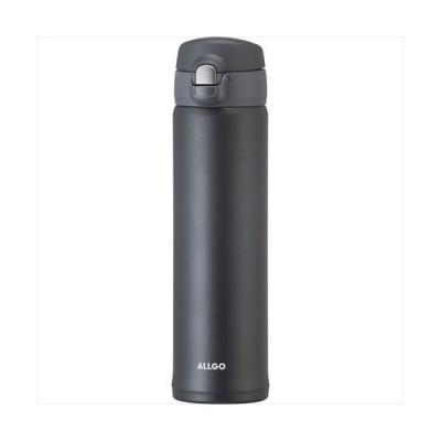 オルゴ ワンタッチ栓マグ(600ml) (ネイビーブラック)  MBS-600NB 広口タイプ ステンレスマグボル    21s0220-147
