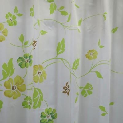 遮光カーテン花模様 グリーン光を遮り安眠熟睡質の良い睡眠をあなたに 幅100cm×2枚or幅200cm×1枚 丈90cm〜148cm