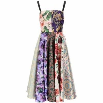 DOLCE&GABBANA/ドルチェ&ガッバーナ Mixed colours Dolce & gabbana longuette dress in patchwork jacquard レディース 春夏2021 F6N