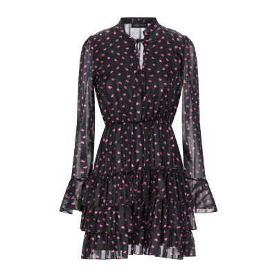 VANESSA SCOTT ミニワンピース&ドレス ブラック S ポリエステル 100% ミニワンピース&ドレス